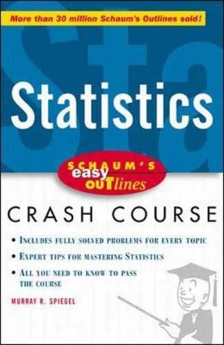 9780070527126: Schaum's Easy Outline: Statistics