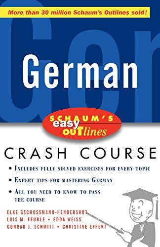 9780070527171: Schaum's Easy Outline of German (Schaum's Easy Outlines)