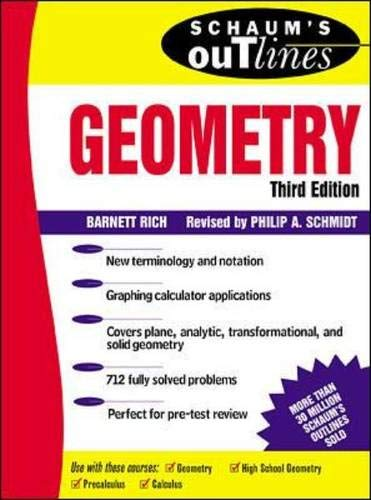 9780070527669: Schaum's Outline of Geometry: Includes Plane, Analytic, and Transformational Geometries (Schaum's Outline Series)