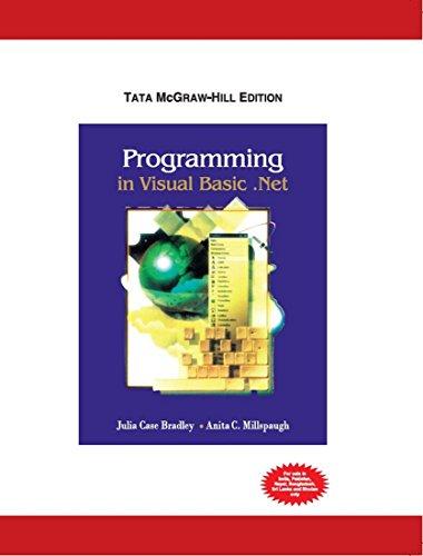 9780070529090: Programming in Visual Basic.net (International Ed)
