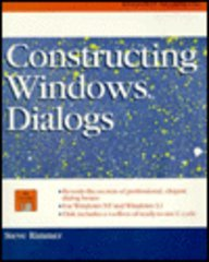 9780070530096: Constructing Windows Dialogs/Book and Disk