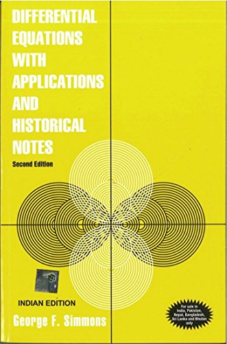 9780070530713: Differential Equations with Applications and Historical Notes