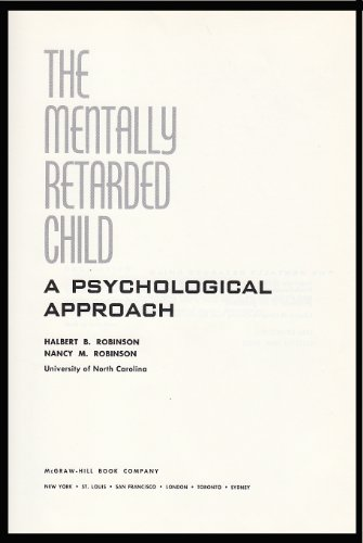 9780070532007: The Mentally Retarded Child: A Psychological Approach.