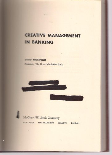 9780070533608: Creative Management in Banking