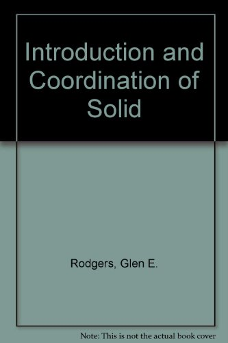 9780070533899: Introduction and Coordination of Solid
