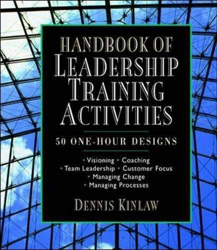 9780070534476: Handbook of Leadership Training Activities: 50 One-Hour Designs