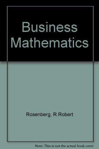 9780070537002: Business mathematics
