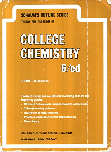 9780070537064: Schaum's Outline of Theory and Problems of College Chemistry