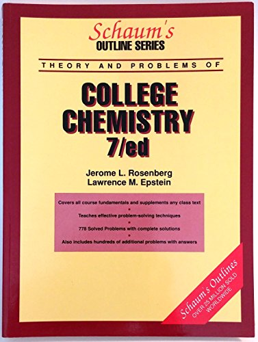9780070537071: Schaum's Outline of Theory and Problems of College Chemistry