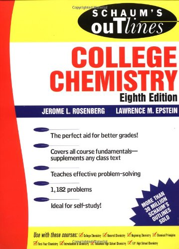 9780070537095: Schaum's Outline of College Chemistry