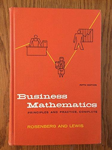 9780070537262: Business Mathematics