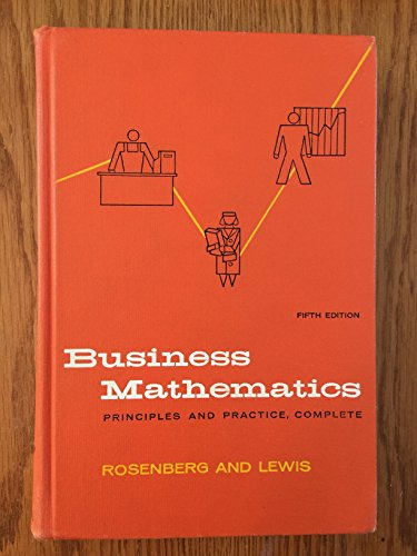9780070537262: Business Mathematics
