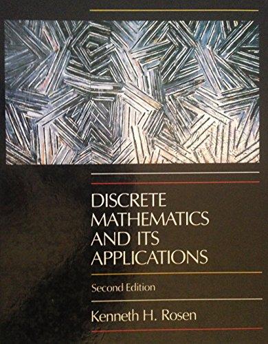 Discrete Mathematics and Its Applications: Rosen, Kenneth H.