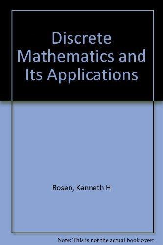 9780070537743: Discrete Mathematics and Its Applications