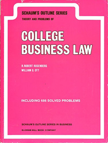 9780070538054: Schaum's Outline of Theory and Problems of College Business Law