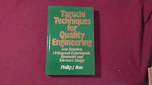9780070538771: Taguchi Techniques for Quality Engineering