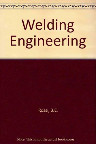9780070538955: Welding Engineering