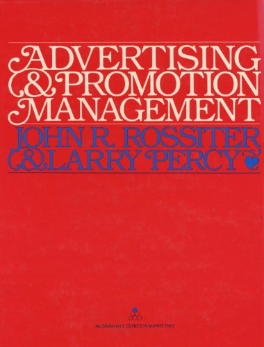 9780070539075: Advertising and Promotion Management (Mcgraw-Hill Series in Marketing)