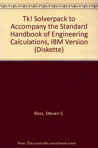 9780070539150: Tk! Solverpack to Accompany the Standard Handbook of Engineering Calculations, IBM Version (Diskette)