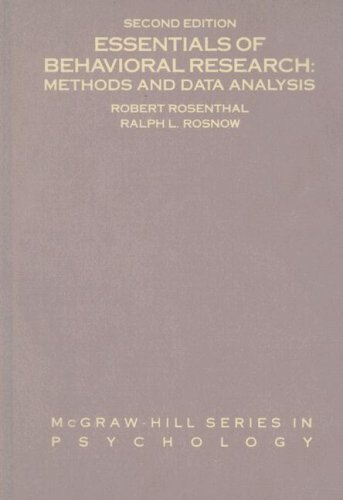 9780070539297: Essentials of Behavioral Research: Methods and Data Analysis
