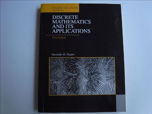 Discrete Mathematics and Its Applications: Student's Solutions: Rosen, Kenneth H.