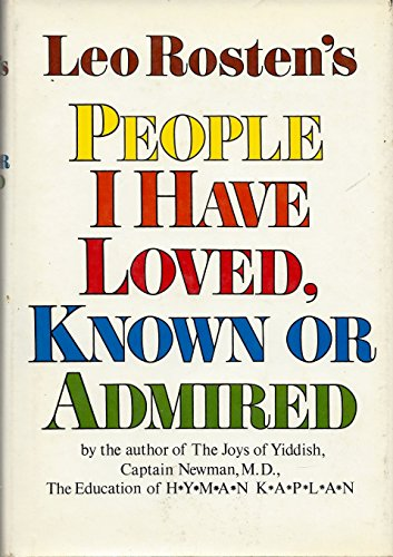 9780070539761: People I Have Loved, Known or Admired