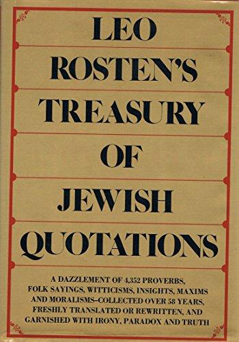 9780070539785: Leo Rosten's treasury of Jewish quotations