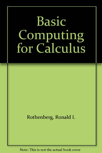 9780070540118: Basic Computing for Calculus
