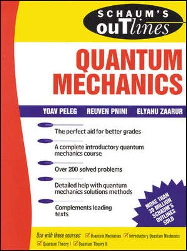 Quantum Mechanics Schaums Outlines