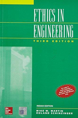 9780070540736: Ethics in Engineering