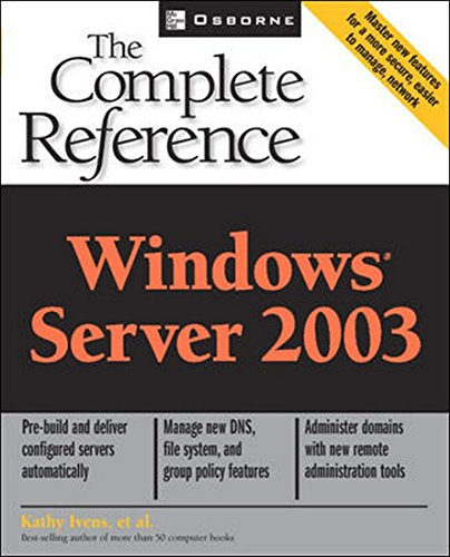 9780070540811: Windows Server 2003: The Complete Reference 1ED