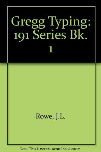 9780070541054: Gregg Typing: 191 Series Bk. 1
