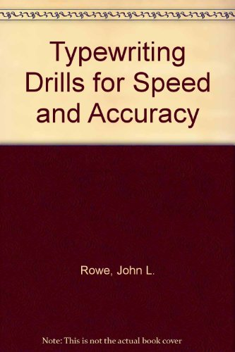 9780070541474: Typewriting Drills for Speed and Accuracy