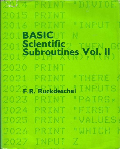 9780070542020: BASIC Scientific Subroutines, Volume II