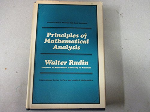 Principles of Mathematical Analysis. Second Edition: Rudin, Walter