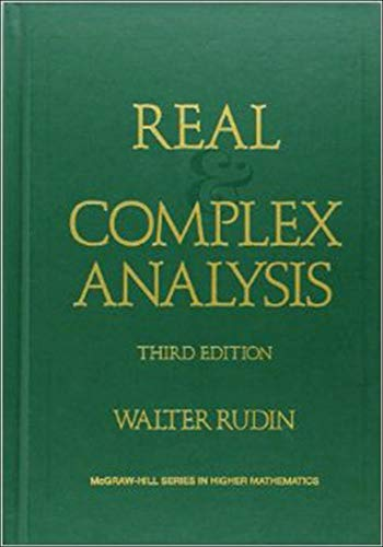 9780070542341: Real and Complex Analysis (Higher Math)