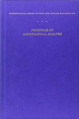 Principles of Mathematical Analysis 3rd Edition: Walter Rudin