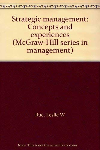 9780070543034: Strategic management: Concepts and experiences (McGraw-Hill series in management)