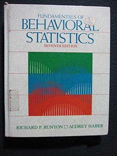 9780070543263: Fundamentals of Behavioural Statistics