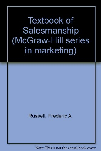 9780070543362: Textbook of salesmanship (McGraw-Hill series in marketing)