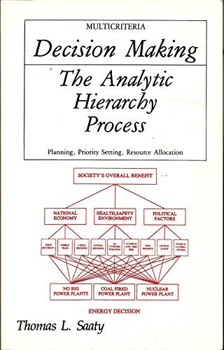 9780070543713: The Analytic Hierarchy Process: Planning, Priority Setting, Resource Allocation (Decision Making Series)