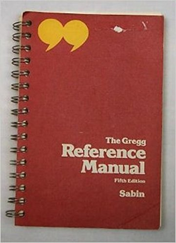 9780070543973: The Gregg Reference Manual