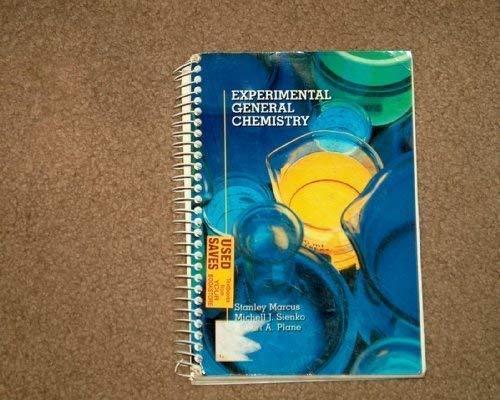 9780070544208: Experimental General Chemistry