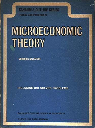 9780070544956: Microeconomics (Schaum's Outline Series)