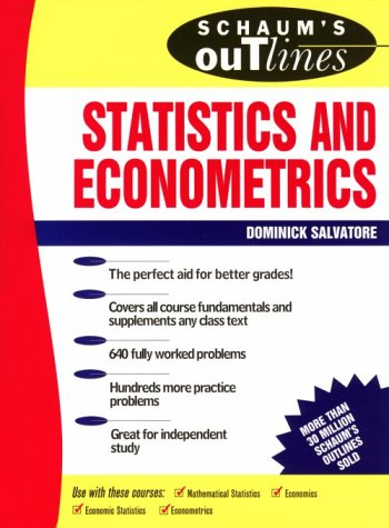 9780070545052: Schaum's Outline of Theory and Problems of Statistics and Econometrics