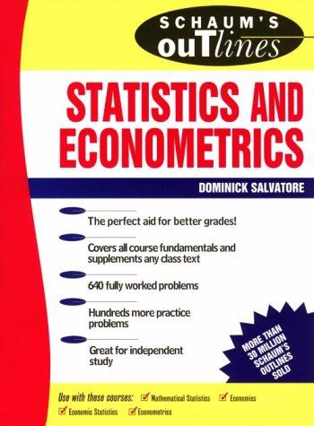 9780070545052: Schaum's Outline of Statistics and Econometrics