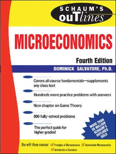 9780070545151: Schaum's Outline of Microeconomic Theory