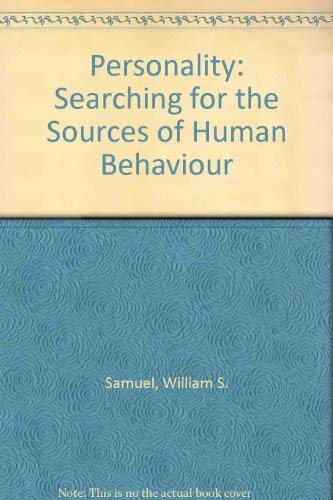 9780070545205: Personality: Searching for the Sources of Human Behaviour