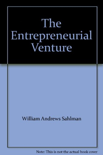 9780070545687: The Entrepreneurial Venture