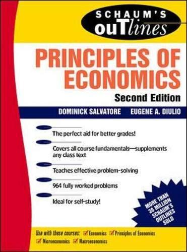 9780070546295: Schaum's Outline of Principles of Economics (Schaum's)